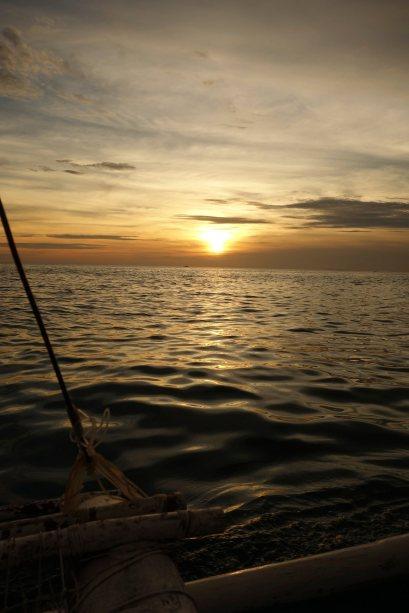6 - coucher du soleil sur le bateau