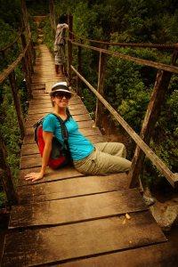 9 - caro on the bridge