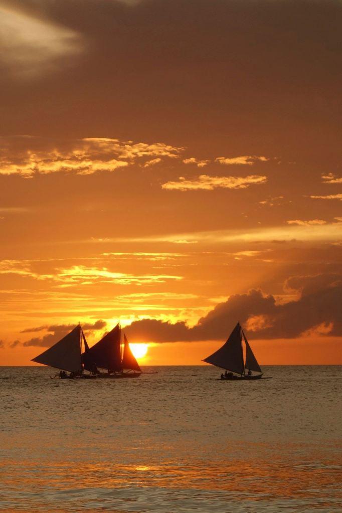 1 - sunset white beach