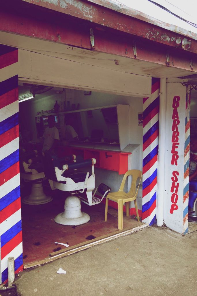 8 - chez le barbier, old time