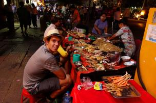 Eating in the street
