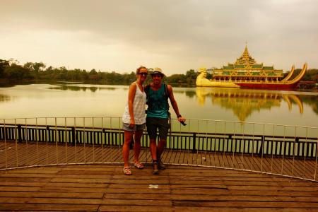 Us at the Kandawgyi Lake