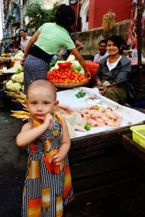 Young girl at the market