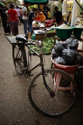 Bike in the market street
