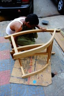 The teak assembly in the street