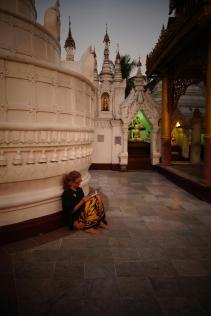 Caroline focus at Shwedagon Paya