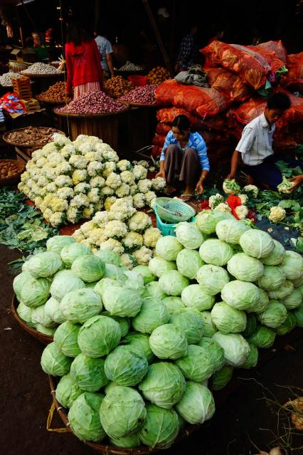 Vegetables stall at the market
