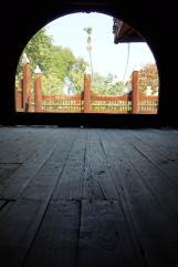 Inside the Teak monastery