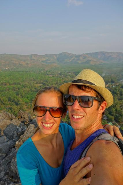 Us from the top of Kyauktalon Taung