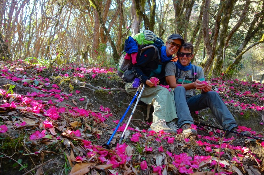 Us in the Rhododendron forest