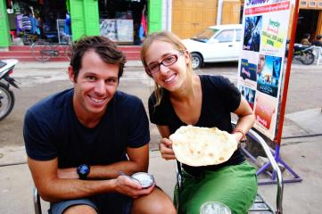Just arrived at Pyin Oo Lwin, and already eating chapati