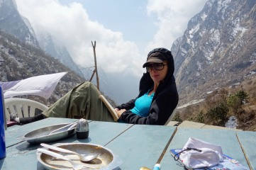 Lunch break at Deural before heading the MBC (Machhapuchhre base camp)