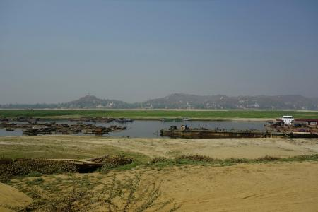 9 - View of Ayeyarwady river and Sagaing hill