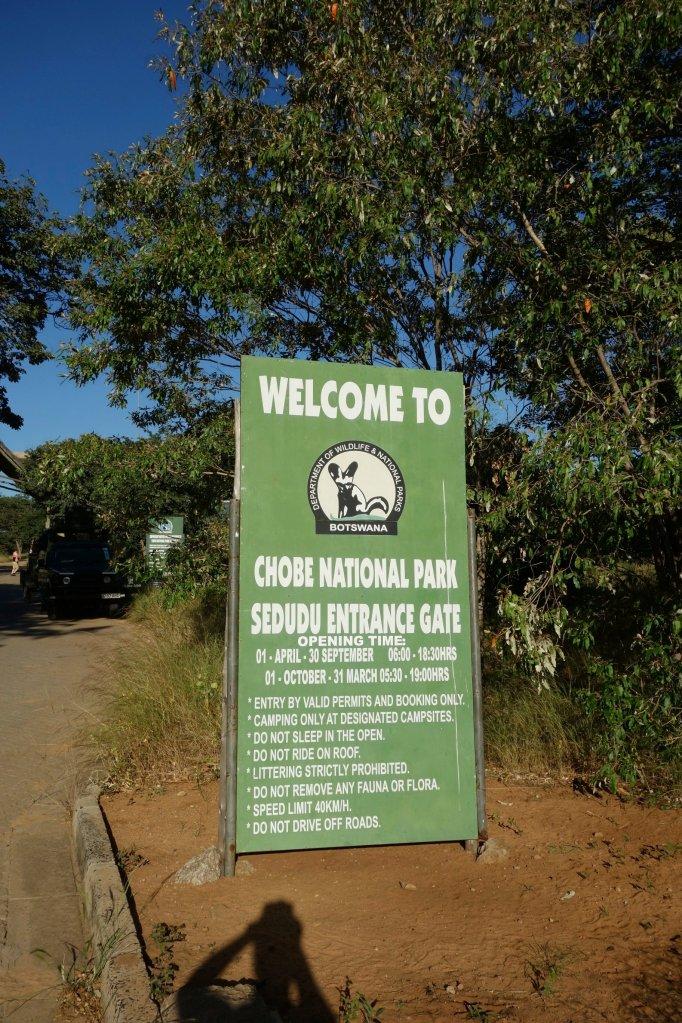 Chobe park entry