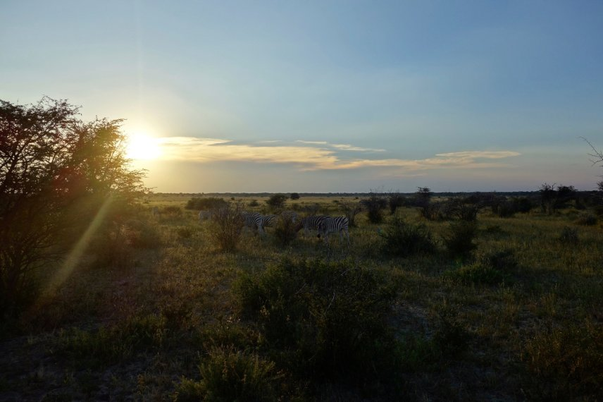Sunset at Khama Rhino Sanctuary