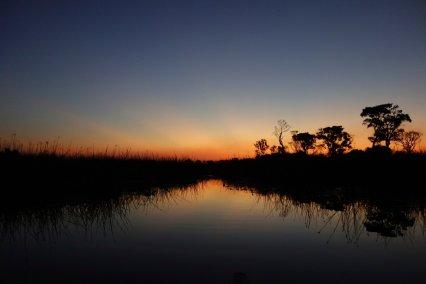 Sunset from the mokoro