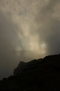 although sometimes it can be totally hidden by the mist