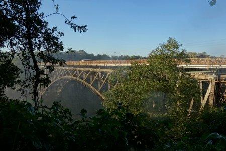 view onto the bridge betweem Zimbabwe and Zambia