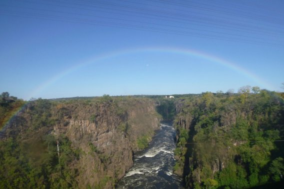 Rainbow over the 2nd gorge and the border bridge