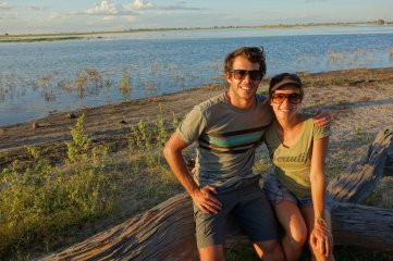 Us near Chobe river