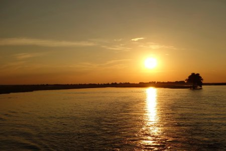Sunset above Chobe river