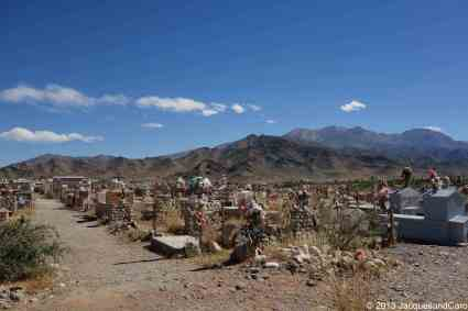 Arrived in Cachi and visiting the cemetery