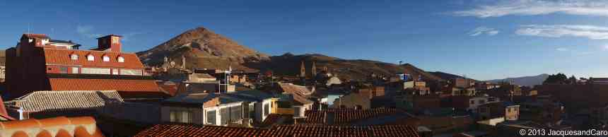 Panoramic of Potosi with in the background the Cerro Rio
