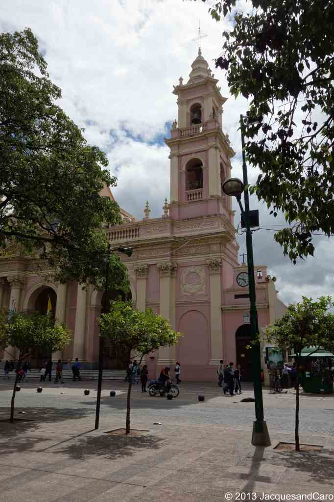 The Basilica cathedral of Salta on the main plaza