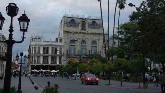The main place : La plaza del 9 de Julio