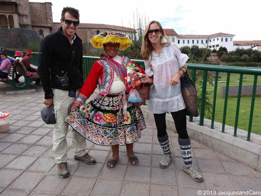 Both of us with this traditional Peruvian woman