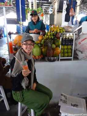 Market time, fresh juice time with caroline