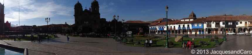 Panoramic of the plaza de las armas