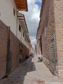Cusco narrow traditional street