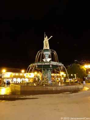 The fountain by night