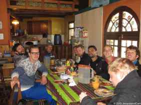 Huge lunch before hitting the 500m to climb to reach our 2nd refuge at 5,300m