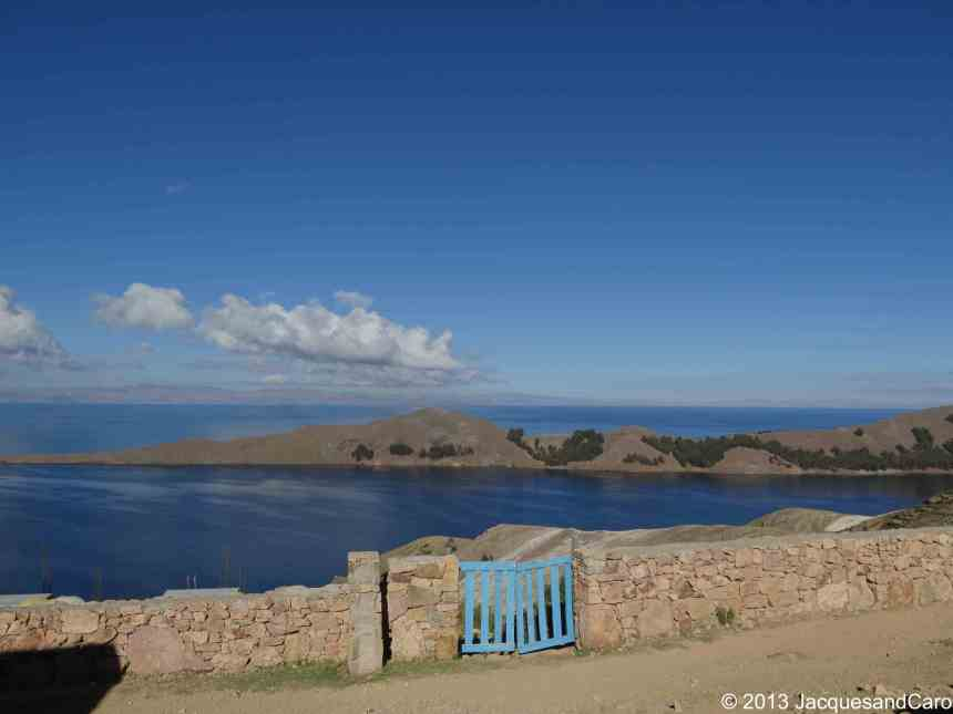 View of Titicaca since Yumani