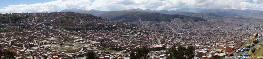 View over La Paz, quite spread city