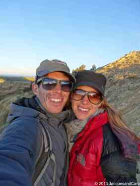 Us at the sunset, north of Isla del Sol