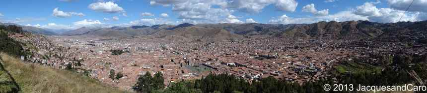 Overivew of Cusco since the view point. Did I tell you that Cusco has been built to represent the shape of a Puma?