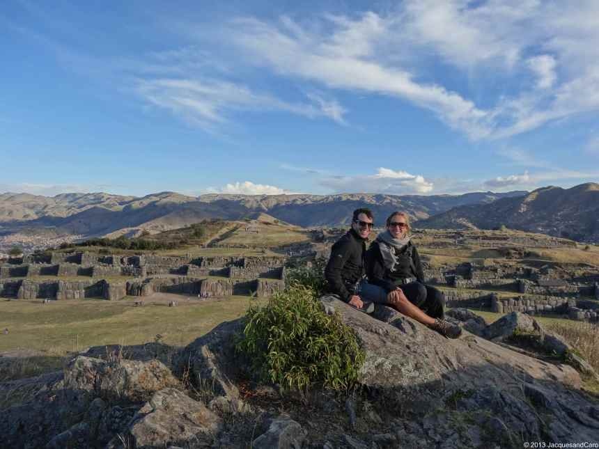 Us with Saqsayhuaman in the background