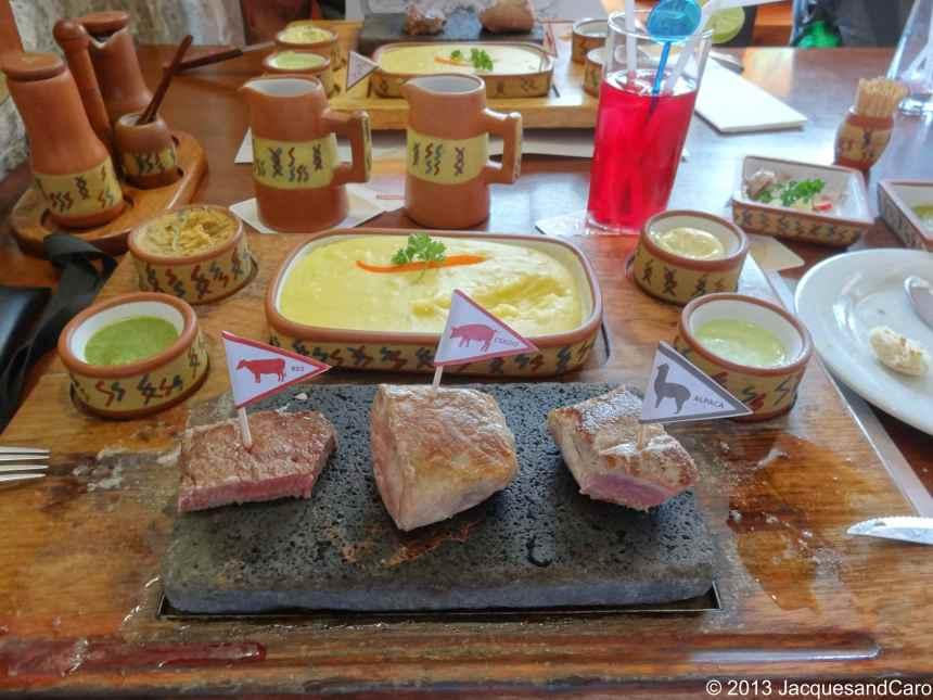 Tried ZigZag restaurant a mix of french and peruvian gastronomy… With Alpaca steak pretty good