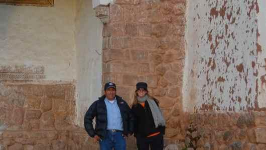 Chinchero: Caroline and our guide Martin Martinez!