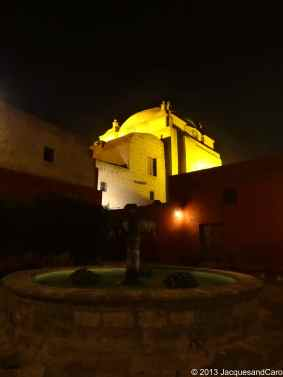 The church within St Catalina by night
