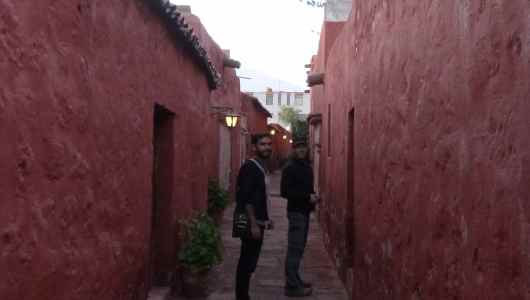 Daniel and Jacques in the street of st Catalina