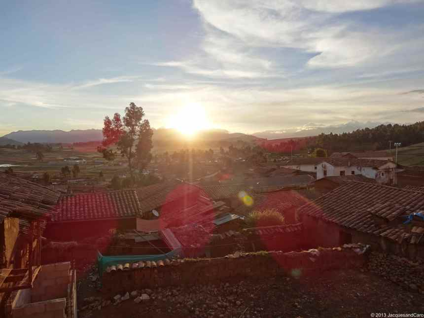Afternoon light at the little village of Chinchero where they will build soon the Cusco international airport.
