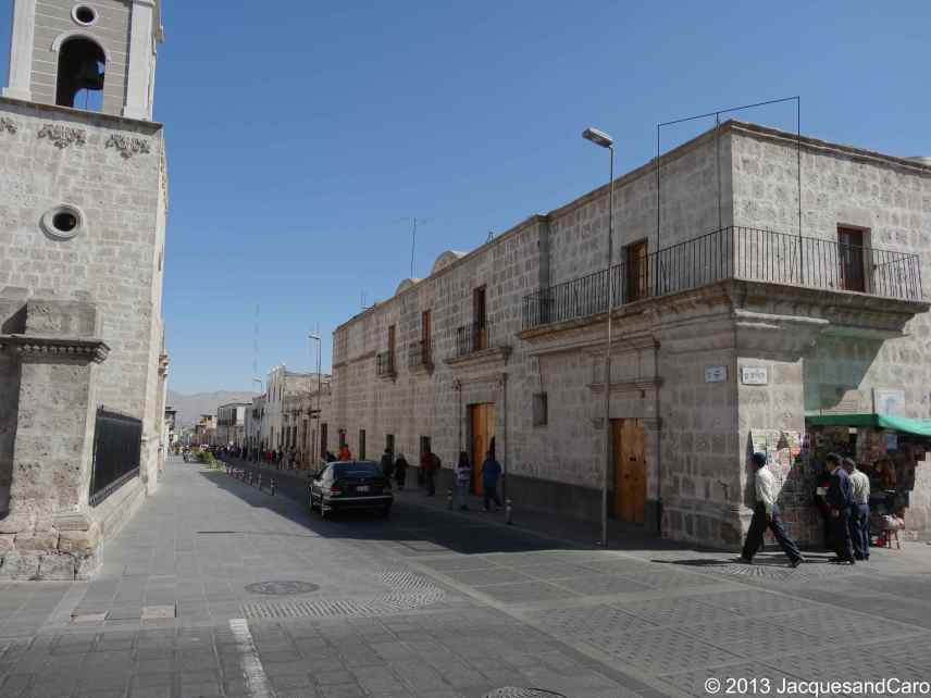 Arequipa street near the plazza de las armas