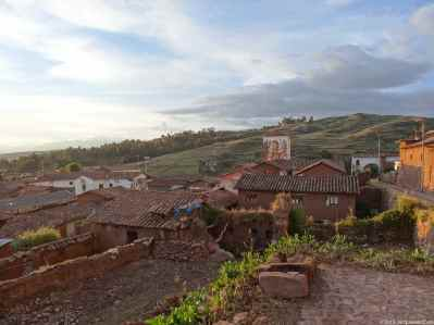 The Chinchero site is located on the top of the hill… featuring amazing terraces and ruins, Like an open-air musem