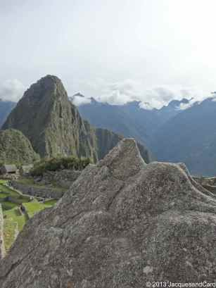 A small rock - shaped by mother nature - represents Machupicchu in a miniature.