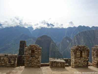 Ruins and view: the combination of Machupicchu