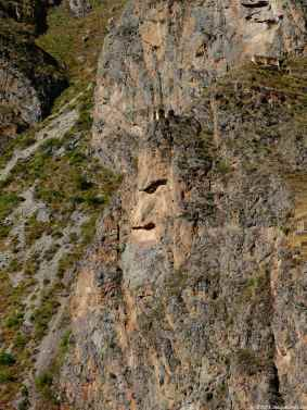 Another view of the face of Tunupa on the mountain facing Ollantaytambo site